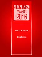 Best ECN Broker 2016 menurut European CEO Awards